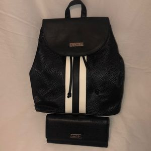 Nautica Logo Backpack Purse plus Wallet- **New